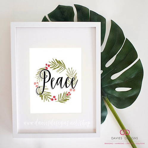"Holiday ""Peace"" 8x10 Print"