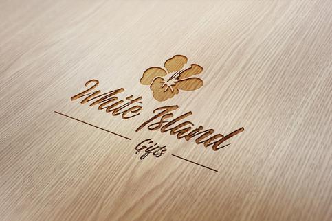 Logo design and branding for White Island GiftsLogo design and branding for White Island Gifts