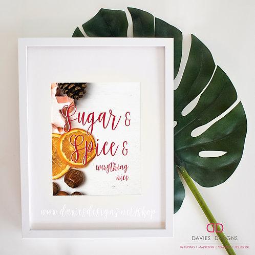 Sugar & Spice 8x10 Print
