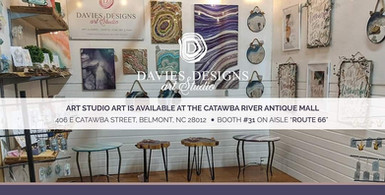 Davies Designs Art Studio Opens at the Catawba River Antique Mall, Belmont, NC