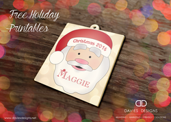 Santa Craft/Ornament - Printable