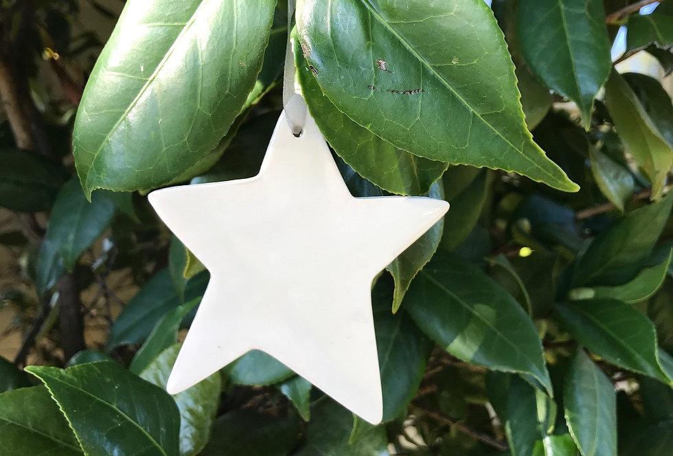 Light Up A Life Porcelain Star Ornament