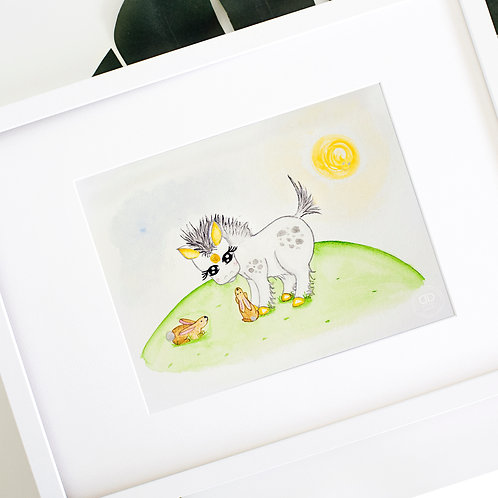 Spike the Unicorn Watercolor Print