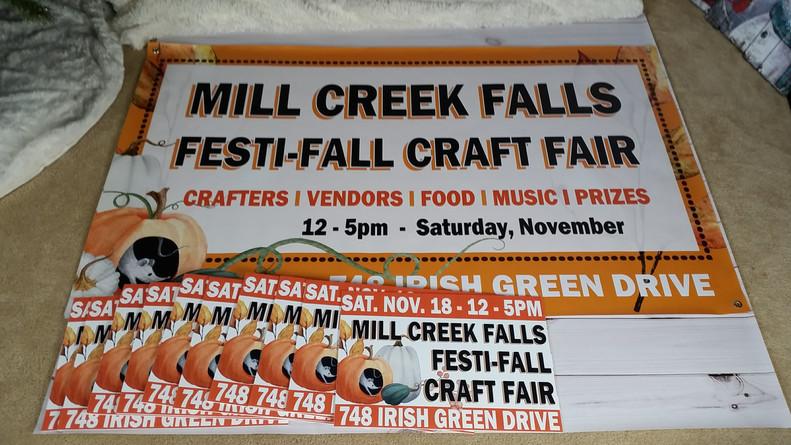 Signage Design for Mill Creek Falls Community