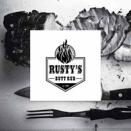 Rusty's Butt Rub Black Logo