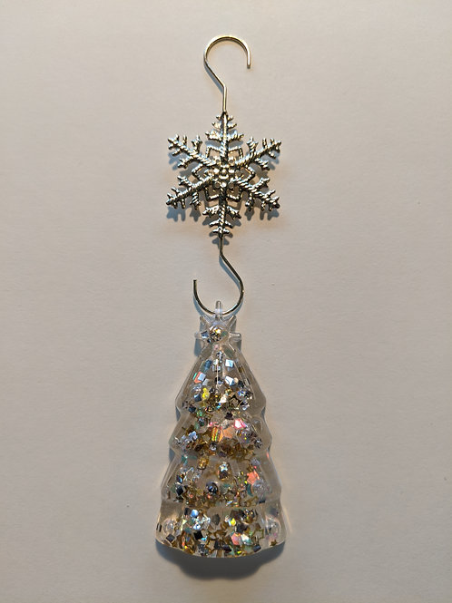 Clear Resin Large Tree Ornament - Style 2
