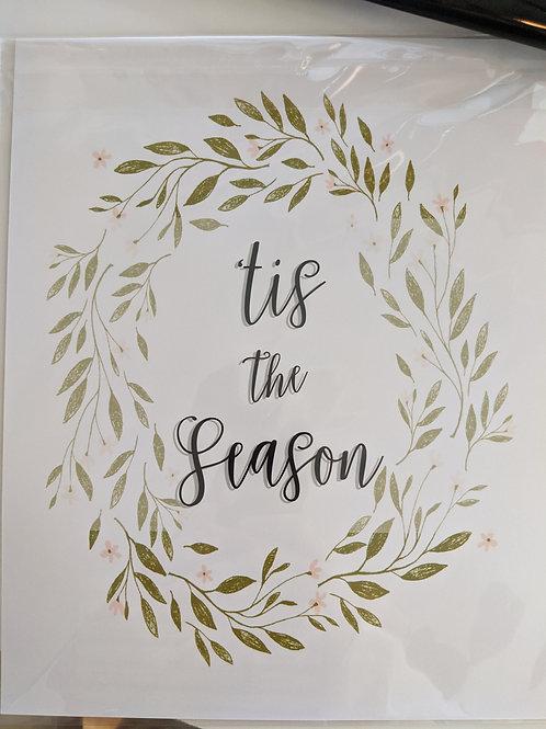 Tis The Season Wreath - 8x10 Print