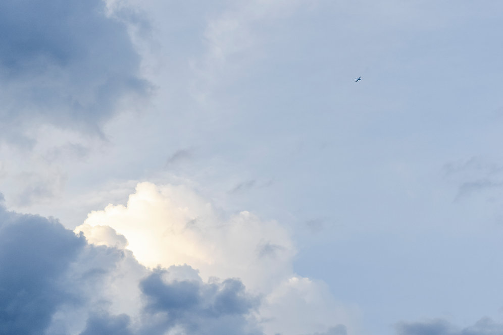 Airplane in Clouds Overlay - 1 - 6000x4000