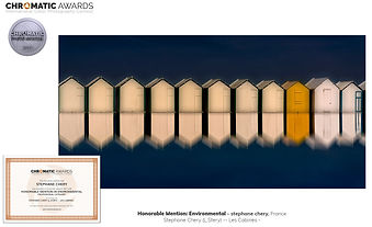 concours photo Chromatic awards cabines mer du nord france