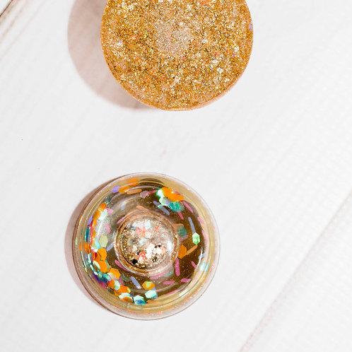 Champagne Glitter Donut Shaker DIY Phone Grip / Paperweight