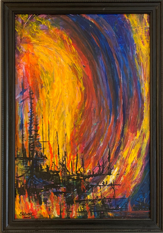 """""""Turbulence - Fire and Water Series (3 of 10)"""""""