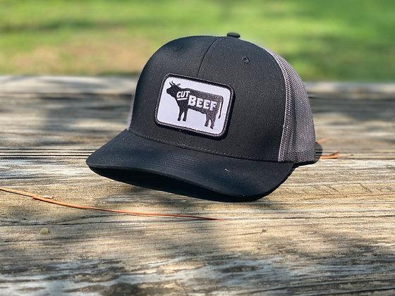 Cut Beef Trucker Hat - Black
