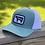 Thumbnail: Cut Beef Trucker Hat - Teal & White