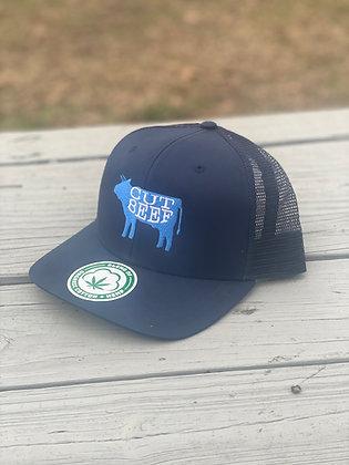 Cut Beef Trucker Hat - Navy