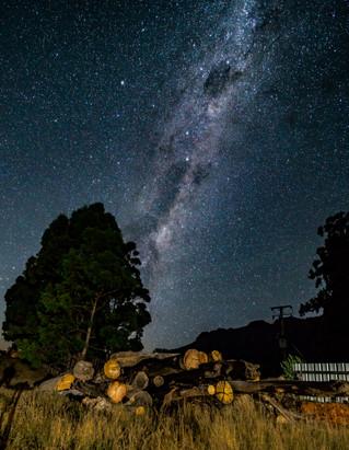 Stars over the woodpile, Tasmania