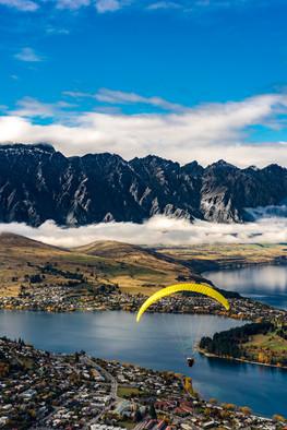 Paragliding in Queenstown, New Zealand