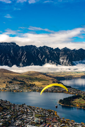 Paragliding in Queenstown, New Zealand