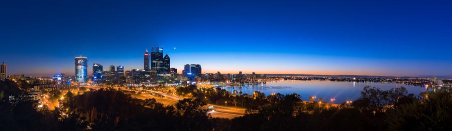 Perth City Panorama at Dawn