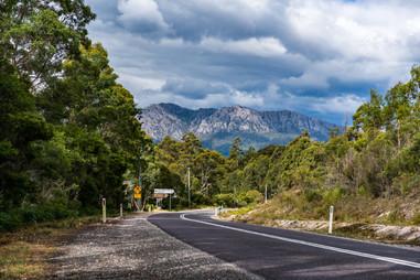 Road through the Tasmanian Mountains