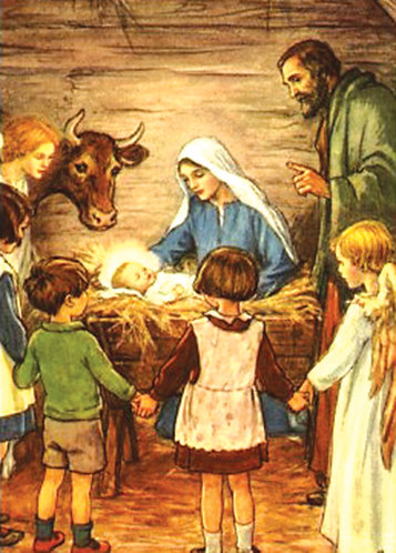 Children, Come to the Manger pack of 5