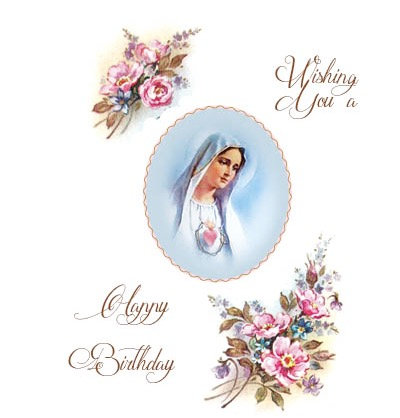 Our Lady Birthday card
