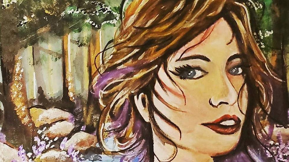 """Flora (12x36"""" Canvas Print)"""