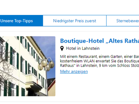 Empfohlen von Booking.com