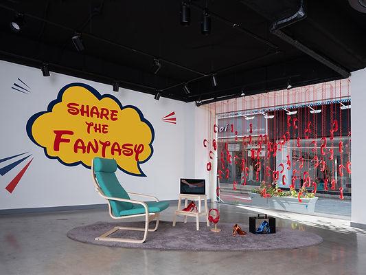 SHARE THE FANTASY_ Mixed media_ Installa