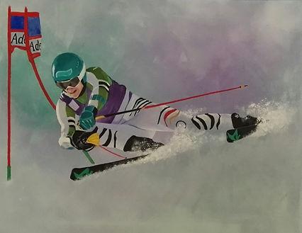 Felix Neureuther Skifahrer Malerei
