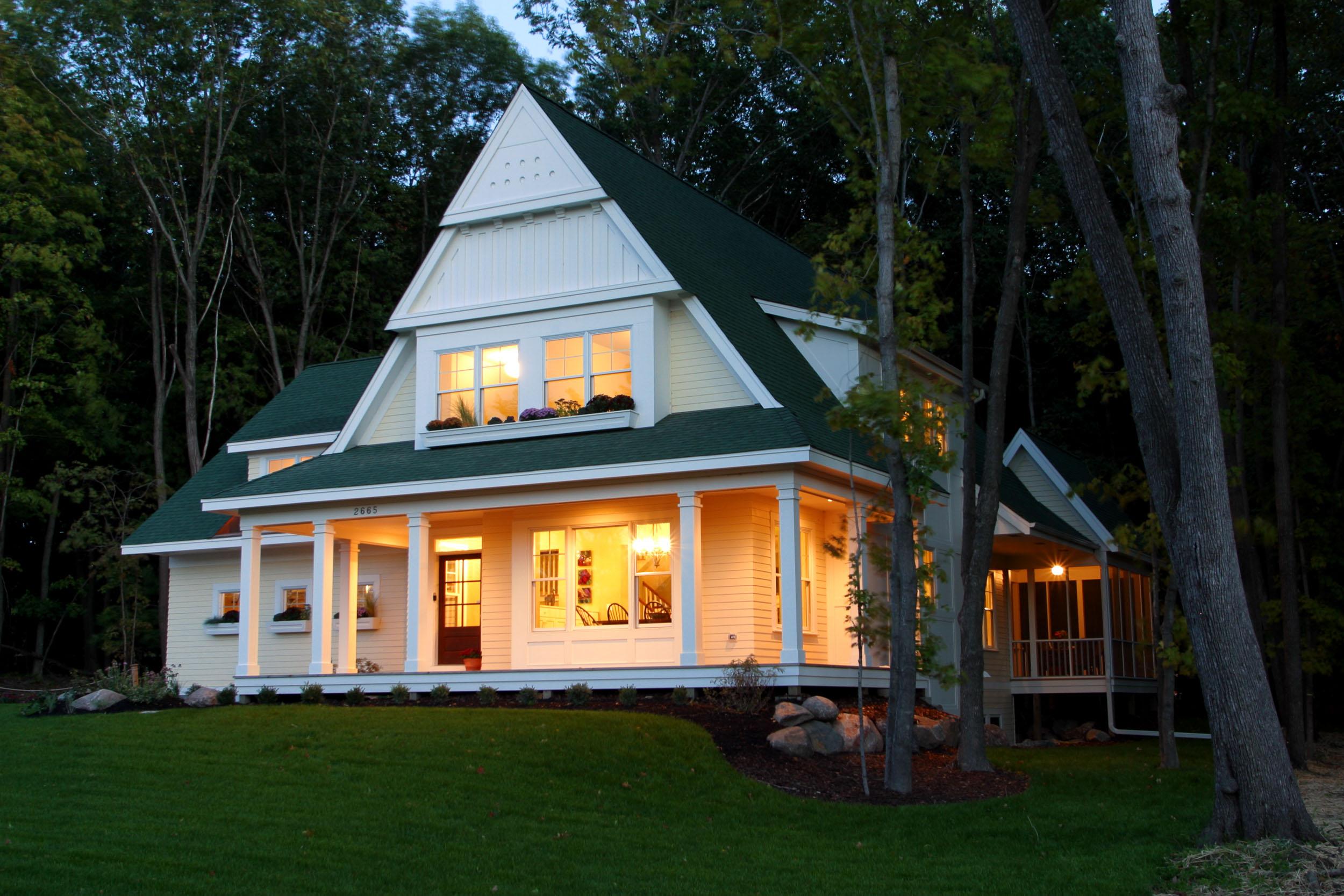 Modern Cottage Exterior Front Image