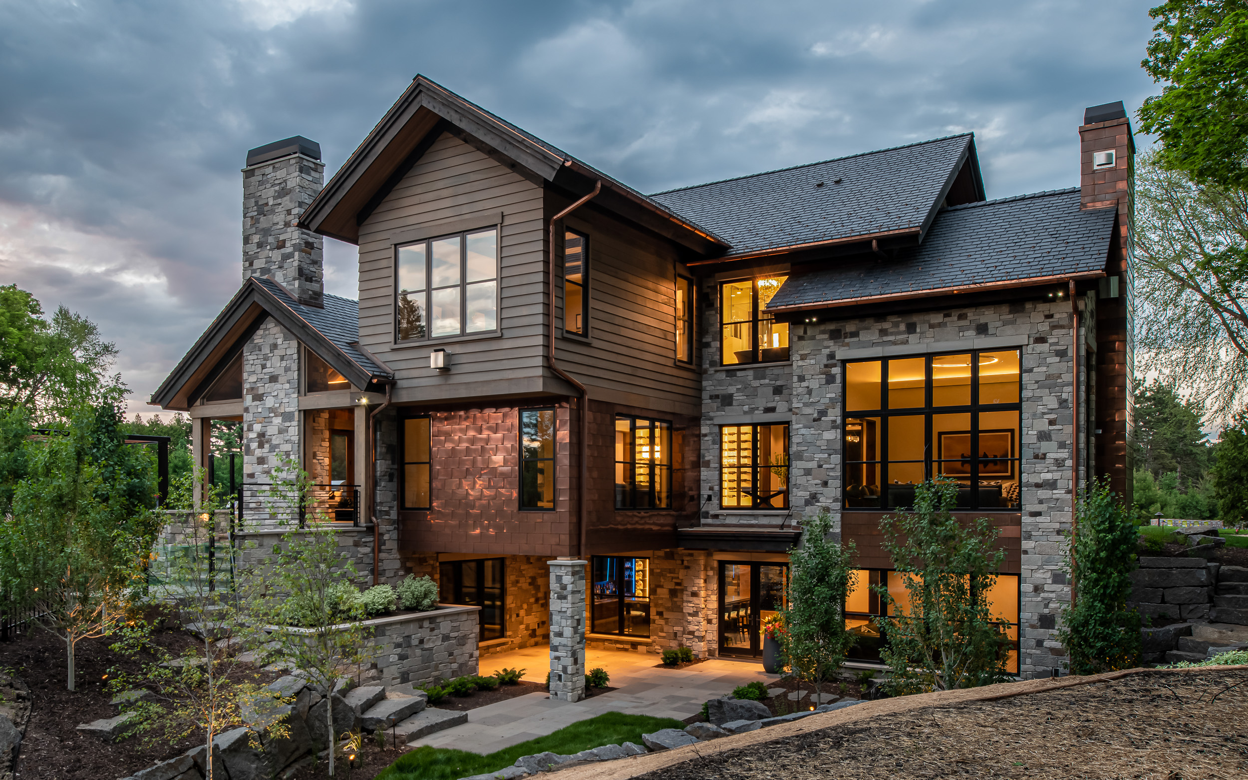 Modern Rustic - Rear Elevation