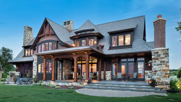 European Style Lake Home