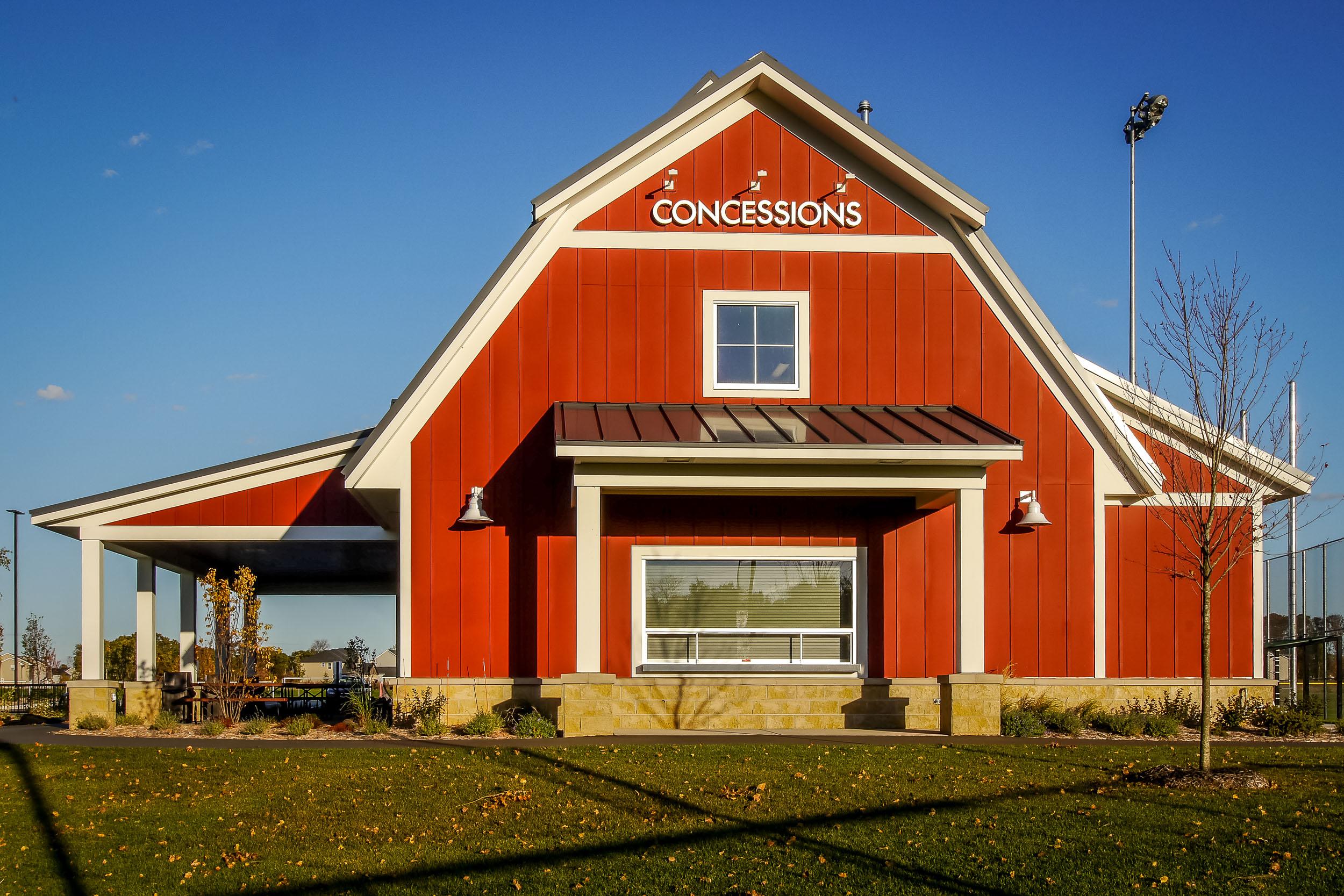 Concessions Building Exterior Image