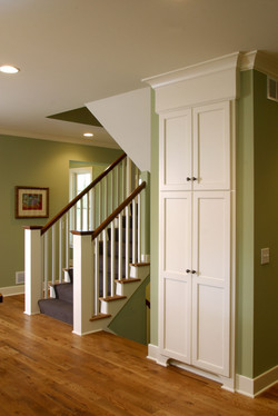 Modern Cottage Stair and Pantry