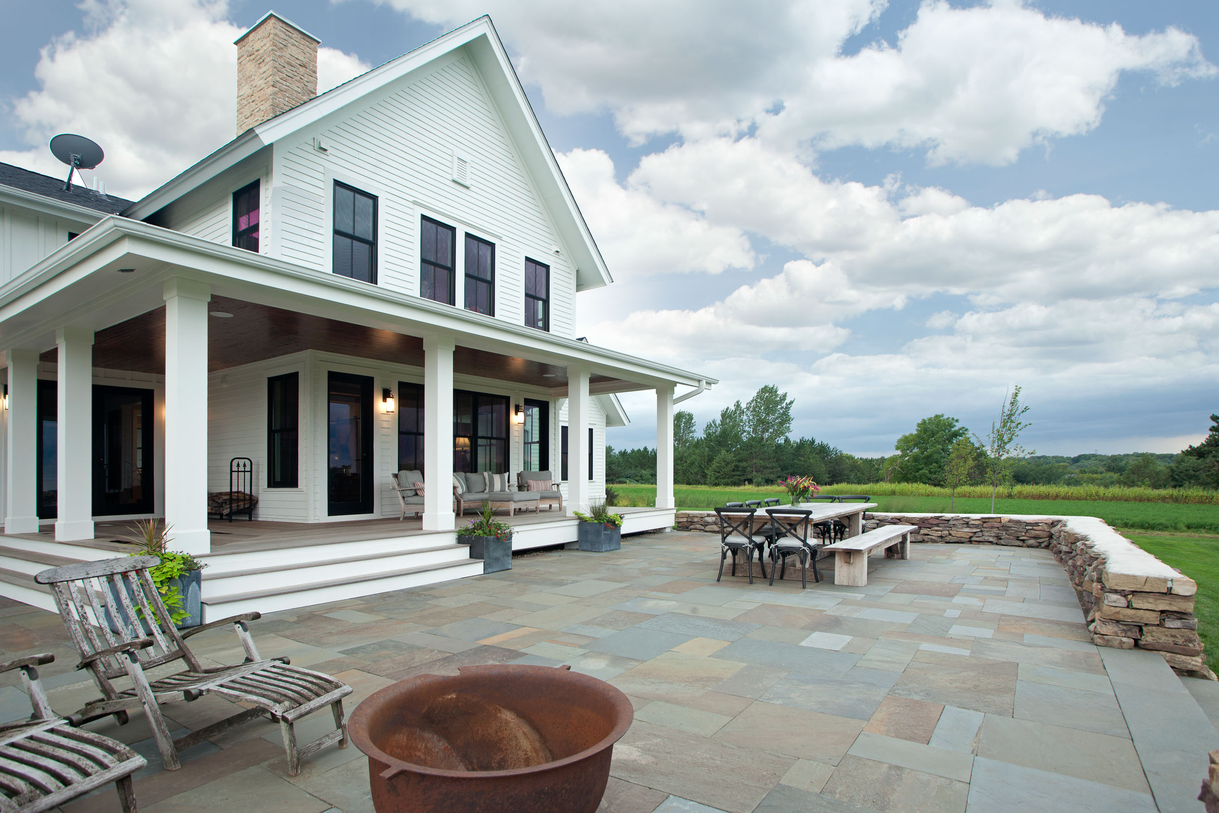 Modern Farmhouse Rear Porch