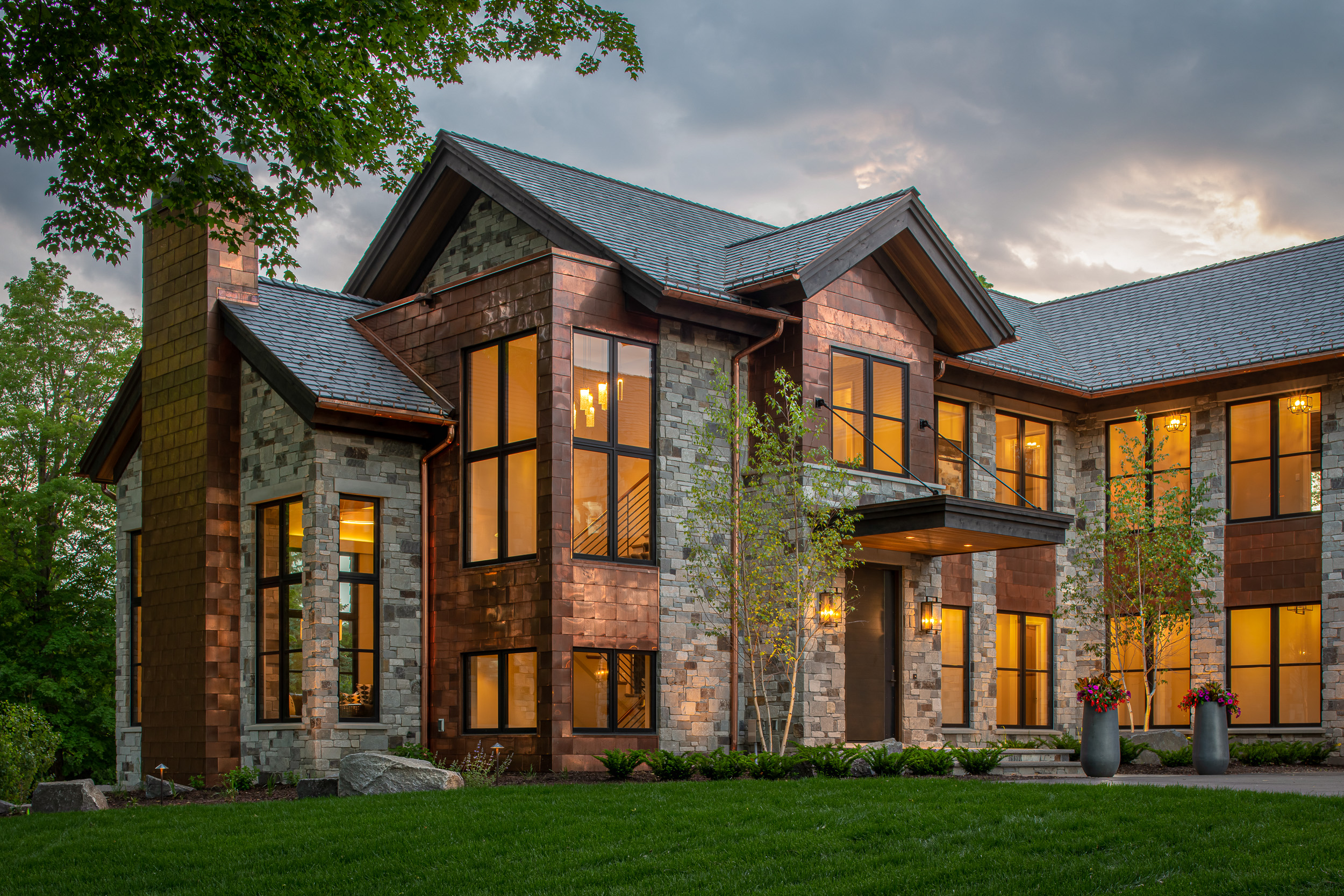Modern Rustic - Front Elevation