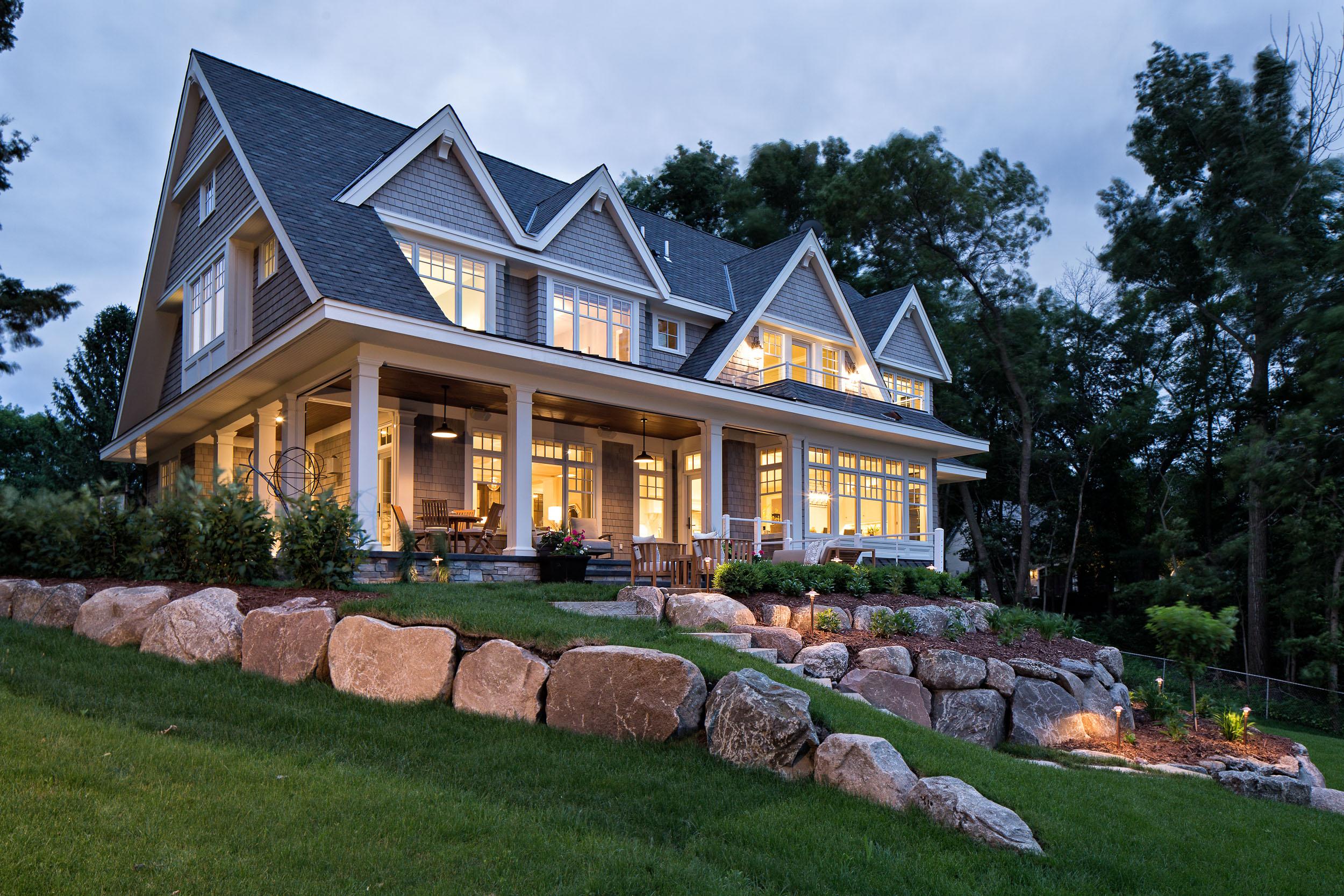 Lake Artisan Home Wrapping Porch
