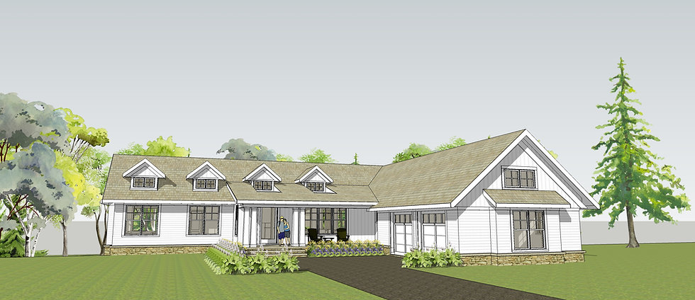 Somerset Transitional Ranch Exterior Image with Front Porch
