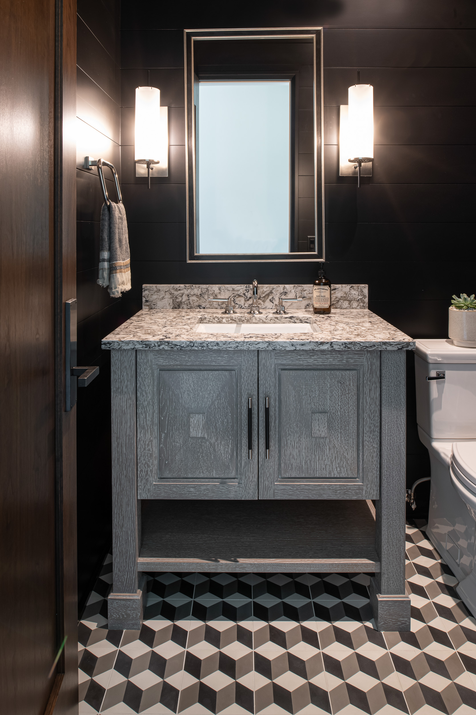 Modern Rustic - Powder Room