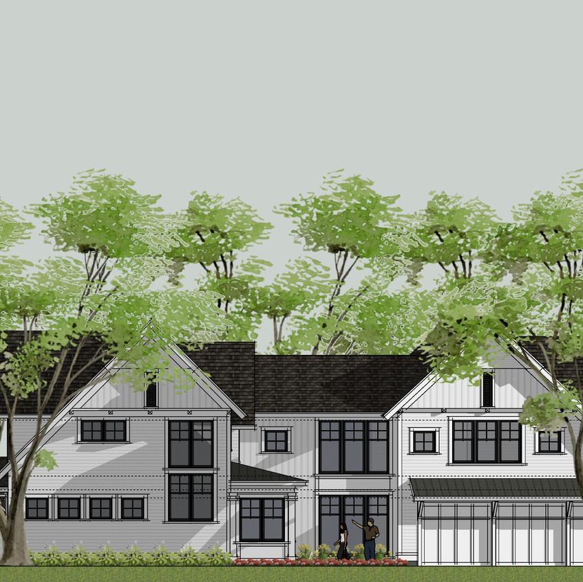modern farmhouse side elevation