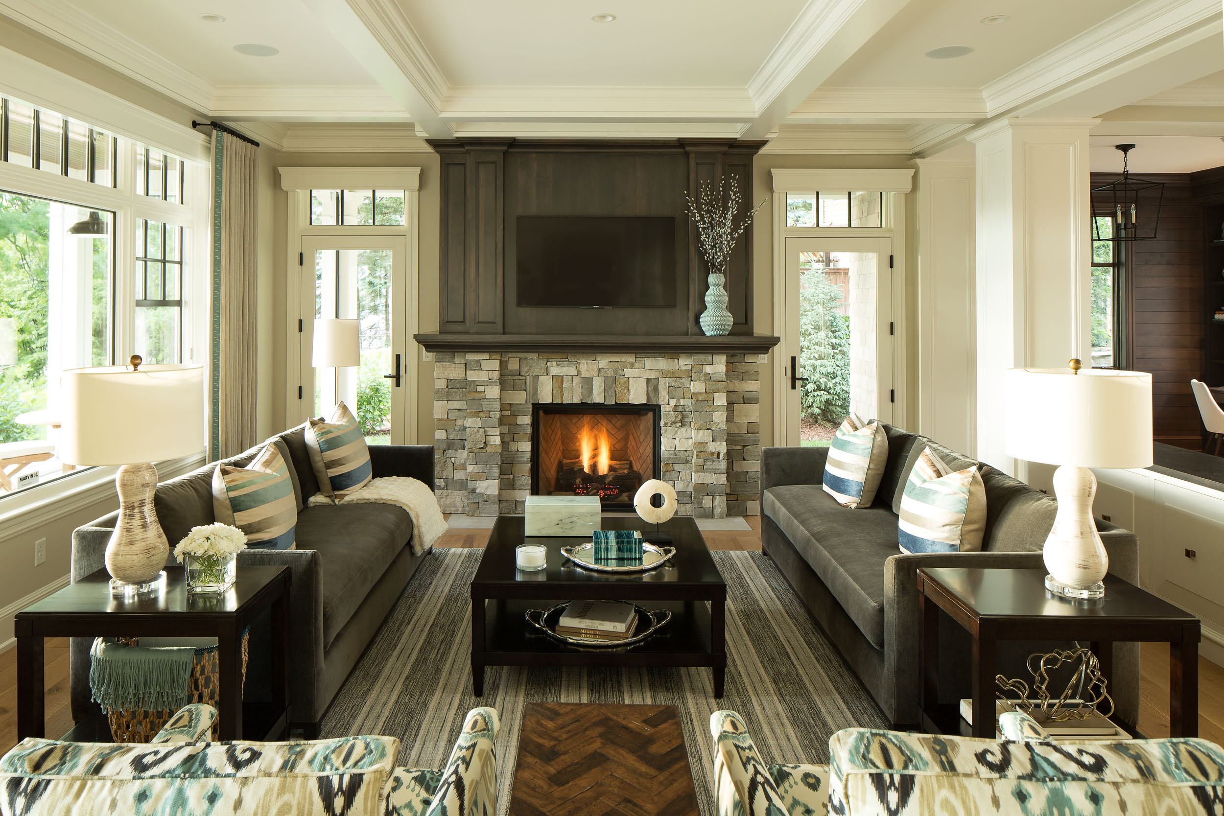 Lake Artisan Home Fireplace Image