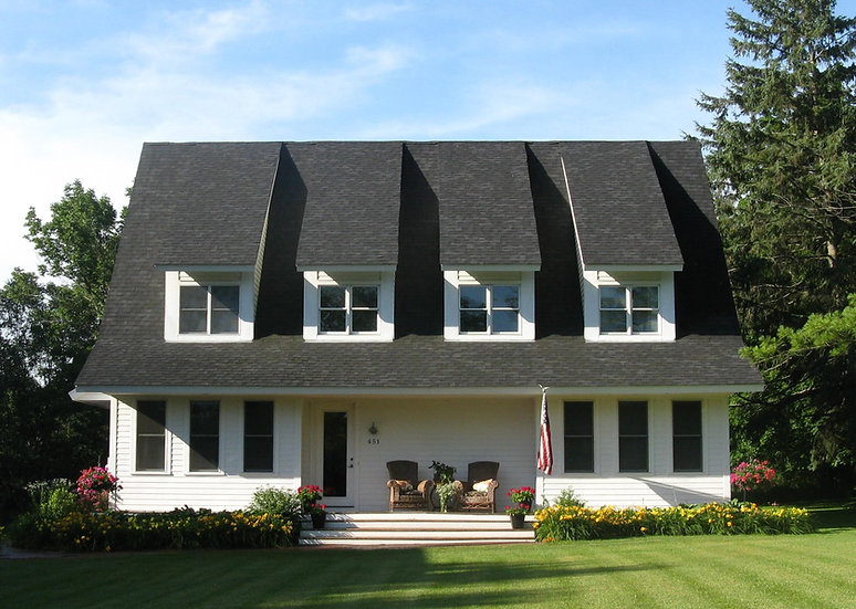 Marine Modern Farmhouse Exterior Front Image featuring Full Length Front Porch