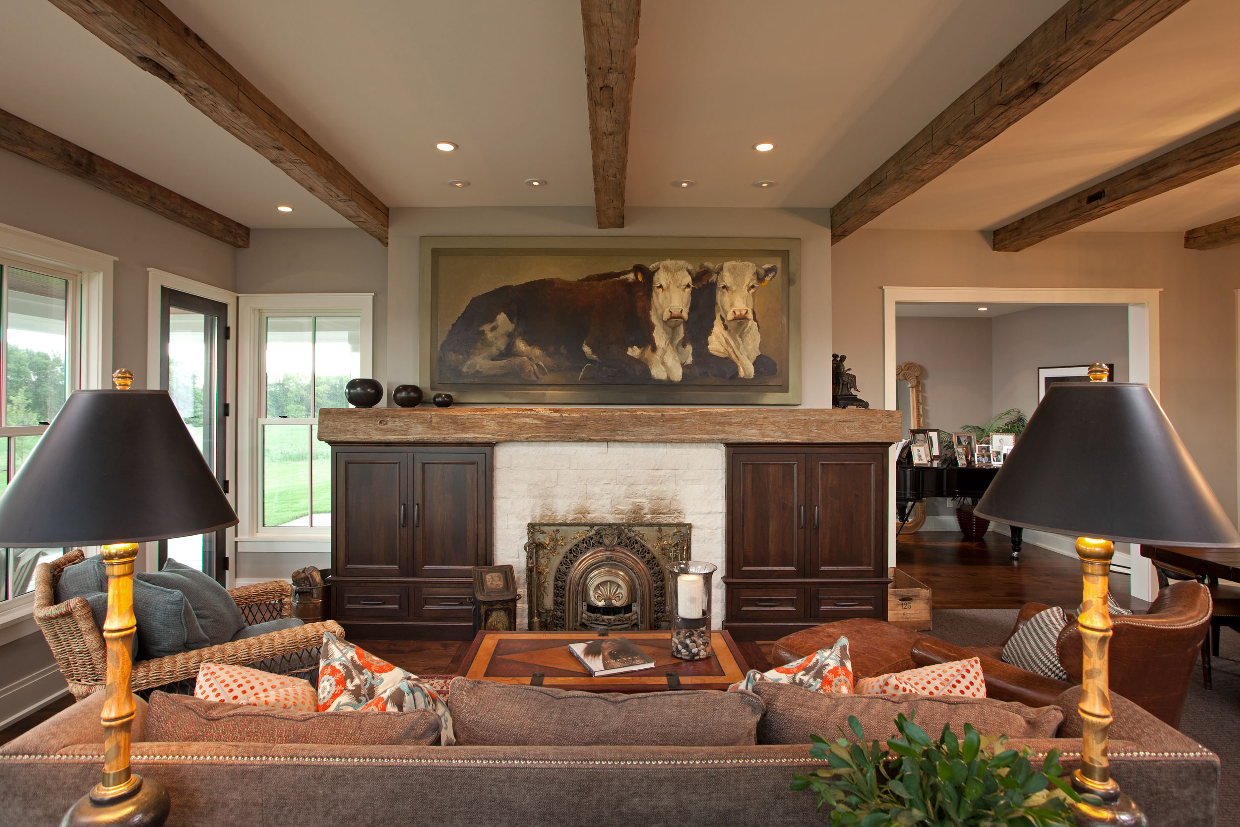 Modern Farmhouse Fireplace Image