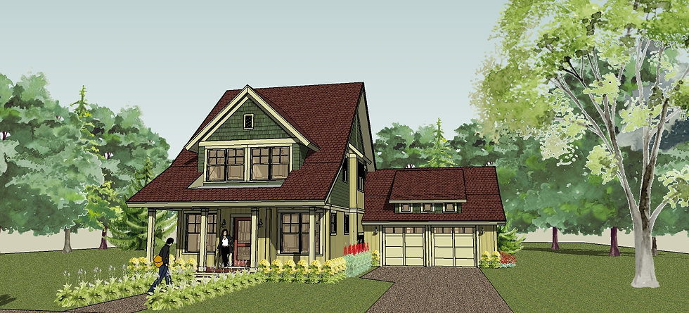 Exterior Rendering from Front