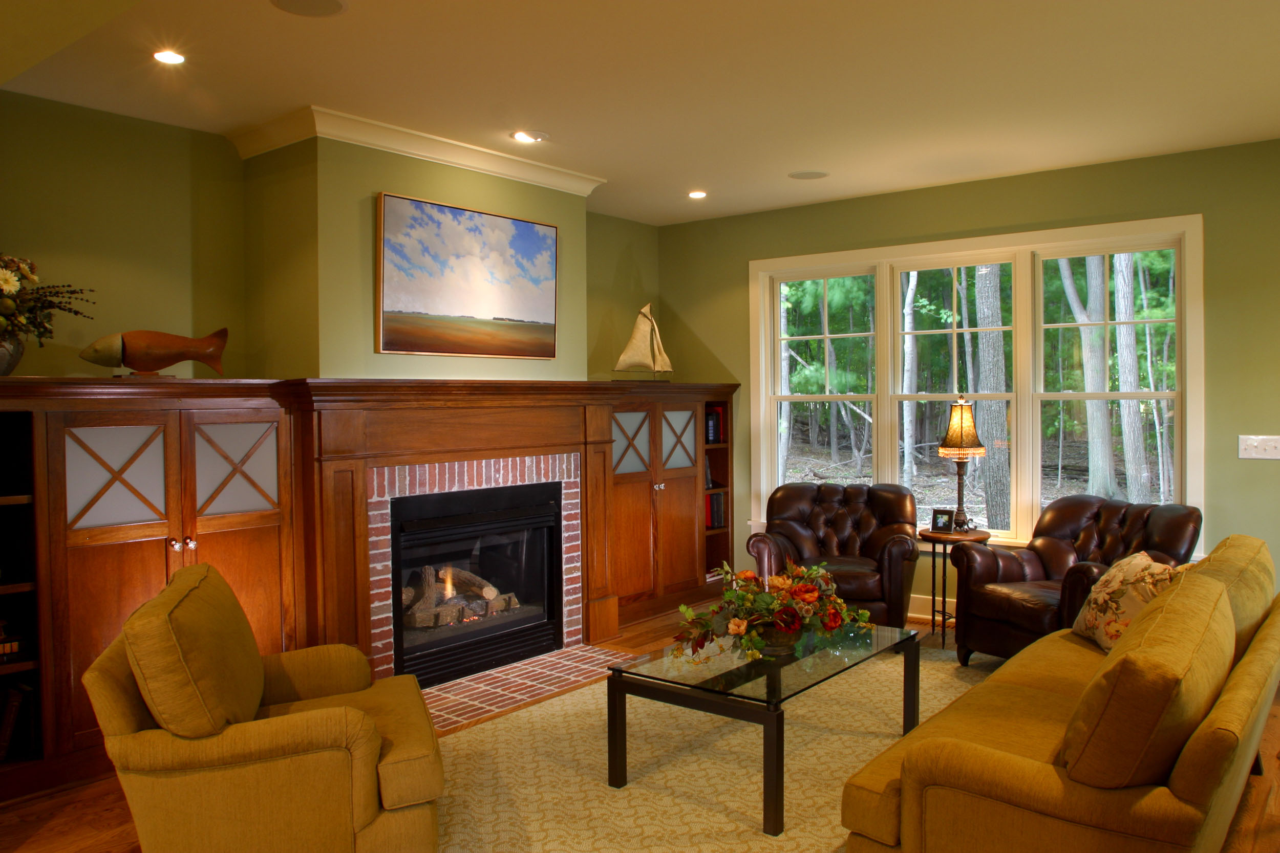 Modern Cottage Fireplace Image