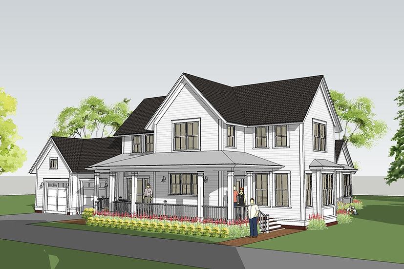 Withrow Farmhouse Exterior Image featuring Wrapping Front Porch
