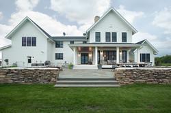 Midwest Modern Farmhouse Rear Exterior