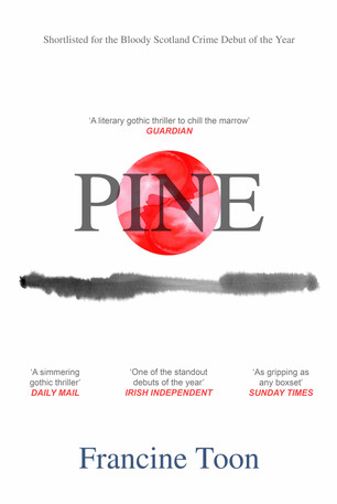 Re-imagined book cover for PINE by Francine Toon