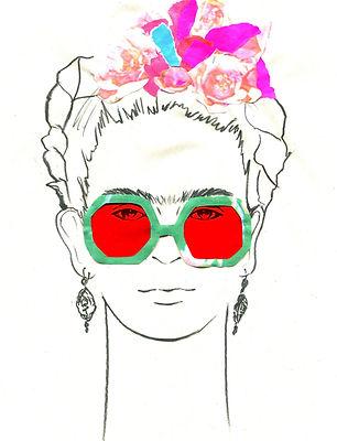 Frida Kahlo red sunglasses