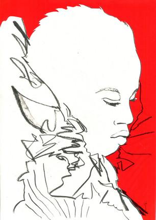 Anok Yai for Alexander McQueen